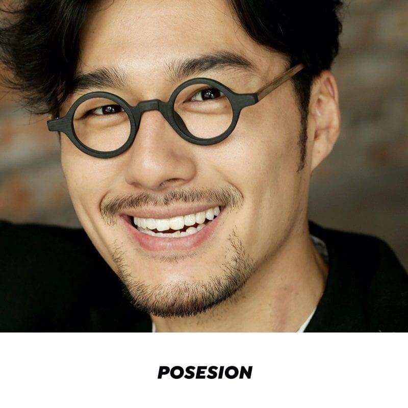mắt kính cận nam posesion ito acetate tròn