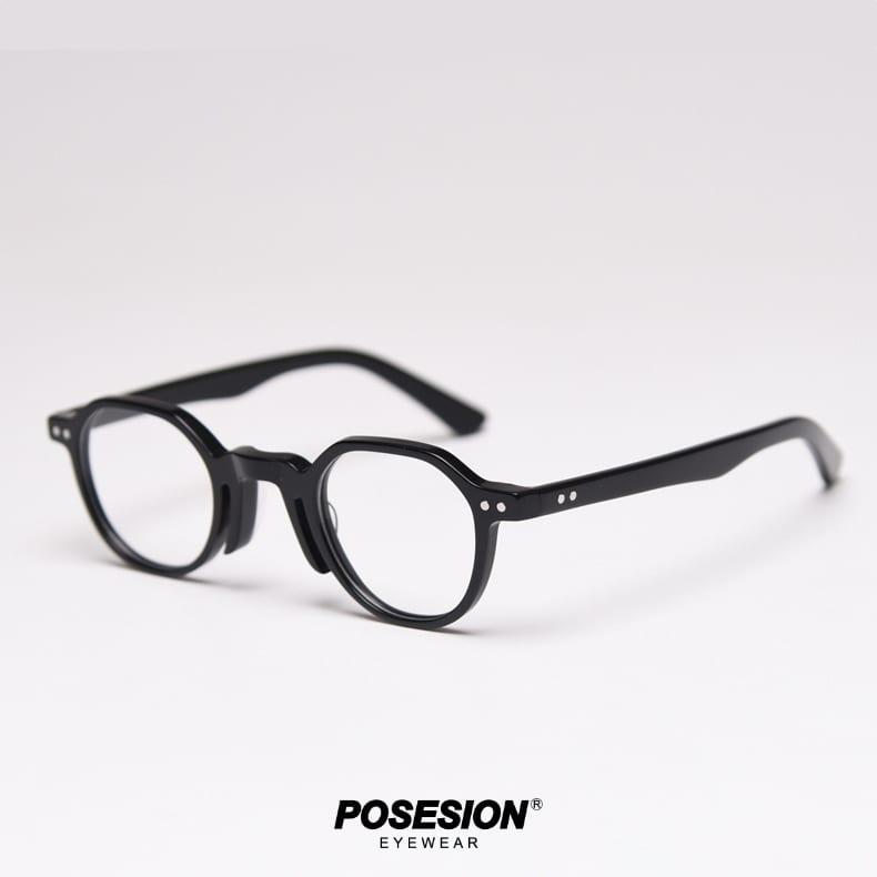 gọng kính cận nam posesion mori acetate đen