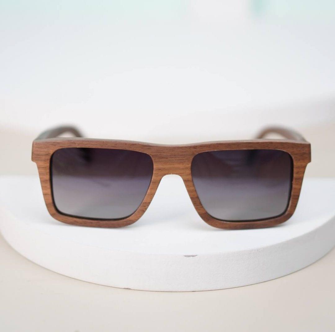 kính mát nam gọng gỗ tre 8